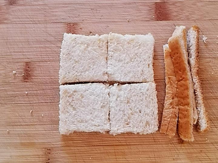 花生酱全麦小方面包,10分钟搞定的低糖营养早餐的做法图解