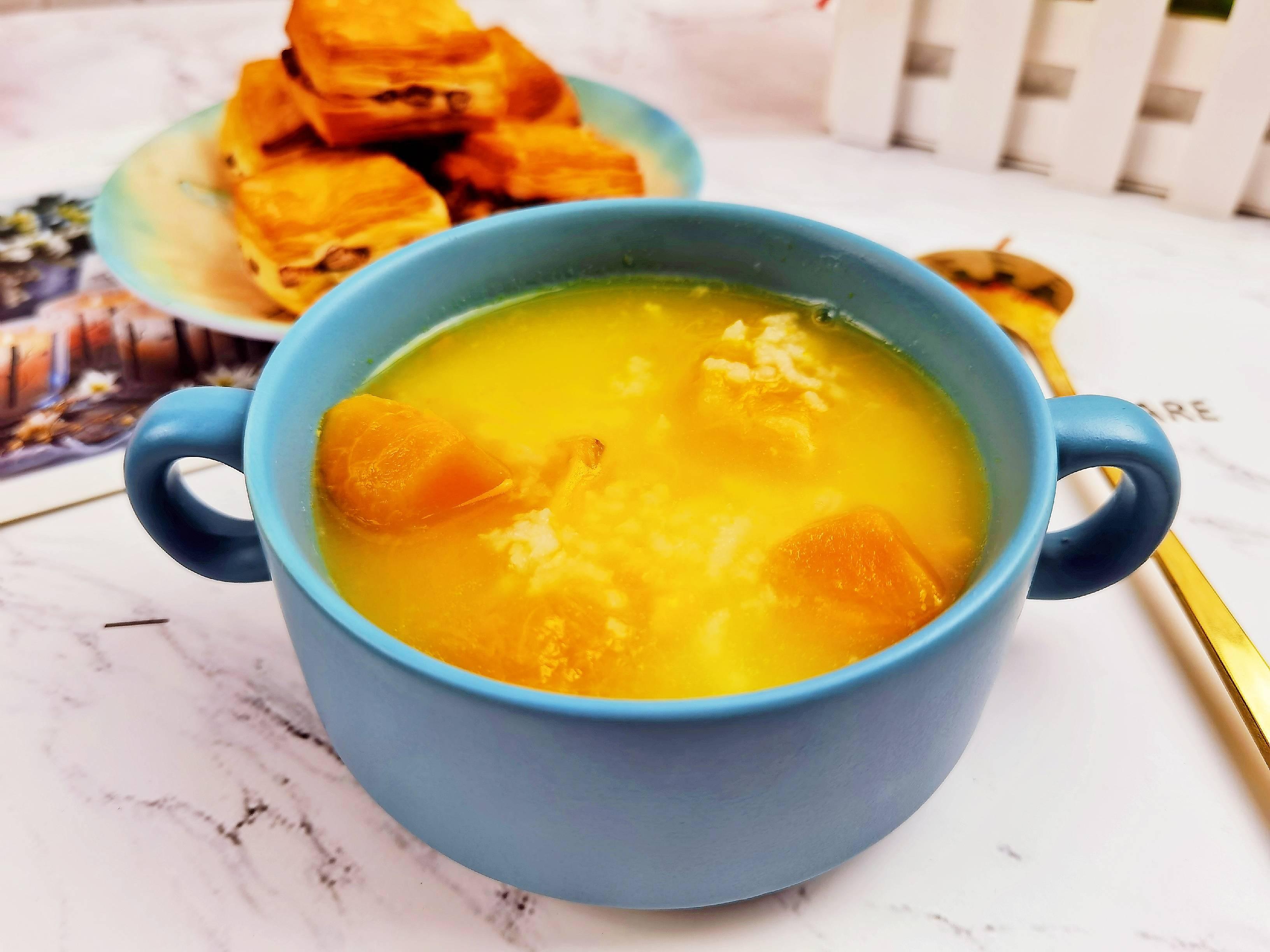 秋日养生粥-南瓜红薯粥,金灿灿甜滋滋,让人食欲满满怎么做