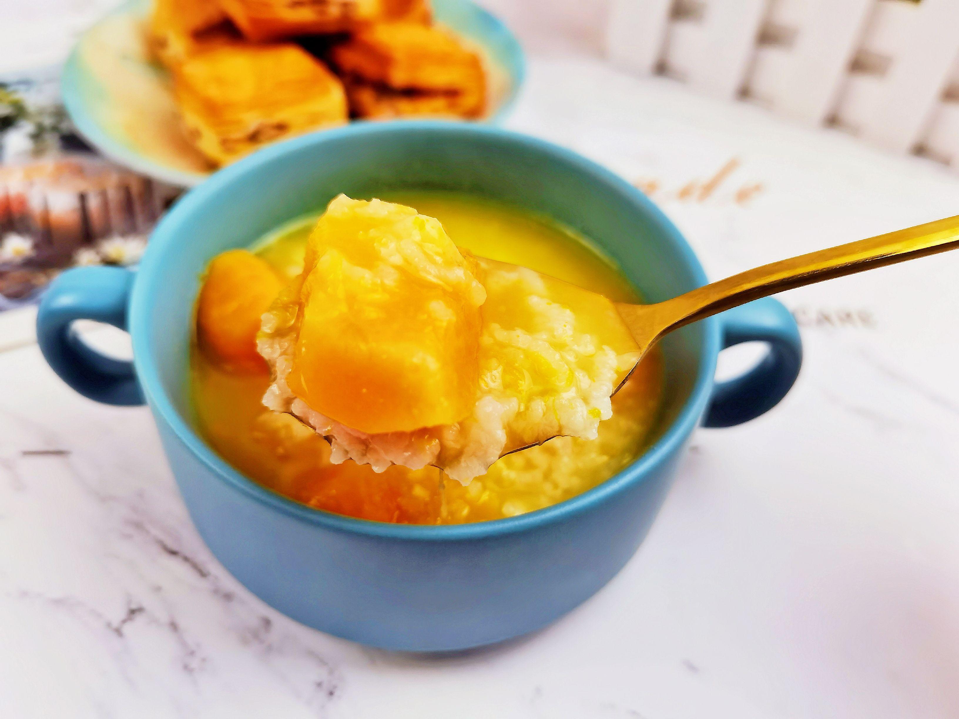 秋日养生粥-南瓜红薯粥,金灿灿甜滋滋,让人食欲满满怎么炒