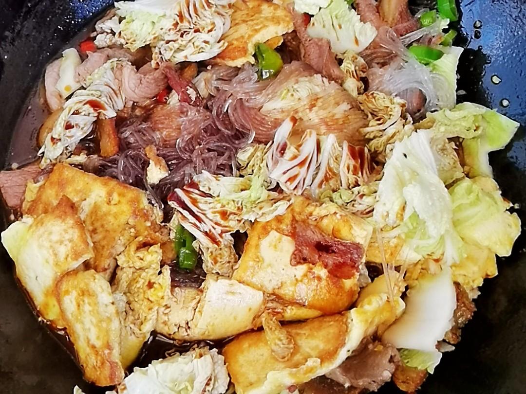 冬日暖胃家常菜-豆腐粉丝煲,荤素搭配,经济实惠又美味怎样煸