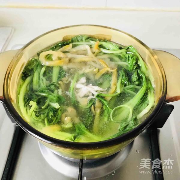 小青菜榨菜肉丝汤的简单做法