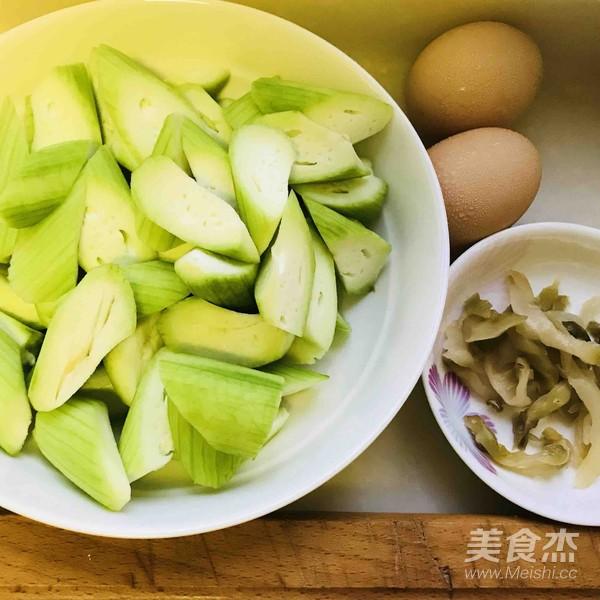 丝瓜炒鸡蛋的做法图解