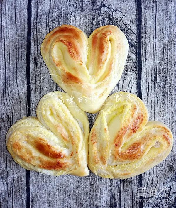 椰蓉桃心面包的制作方法