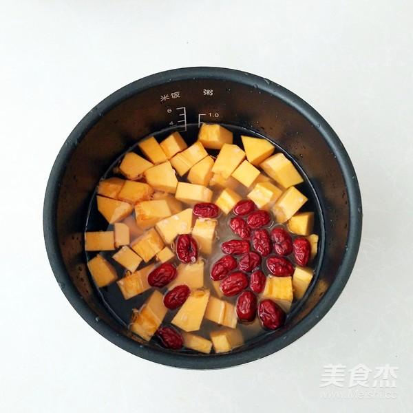 南瓜绿豆红枣粥的简单做法