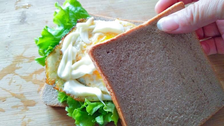 快手三明治的步骤