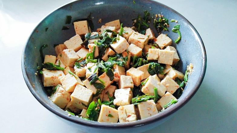 香椿拌豆腐怎样煸