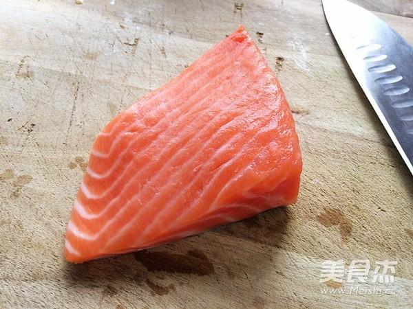 简易版三文鱼寿司的做法图解