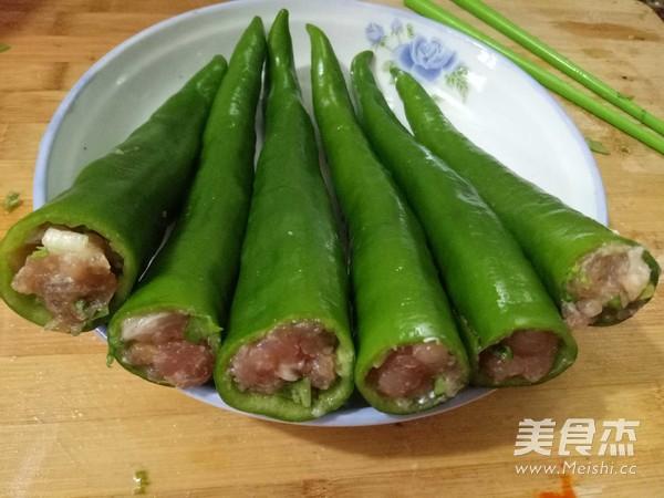 虎皮尖椒酿肉的家常做法