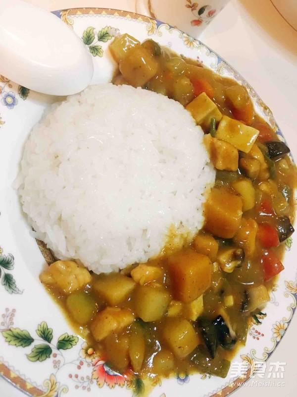 咖喱鸡饭的制作方法