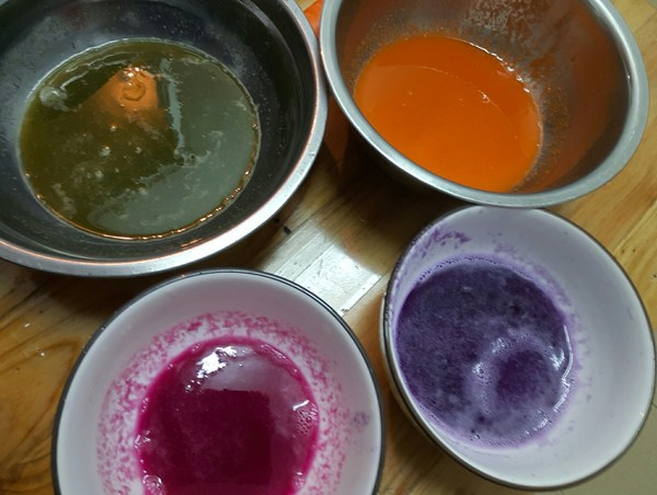 彩色汤圆的做法图解