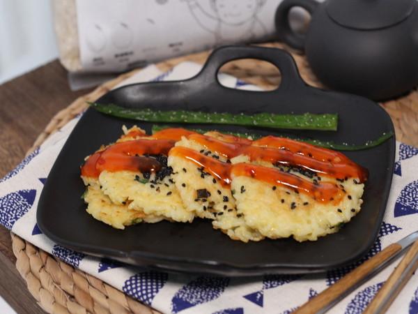 鸡蛋咸香大米煎饼成品图
