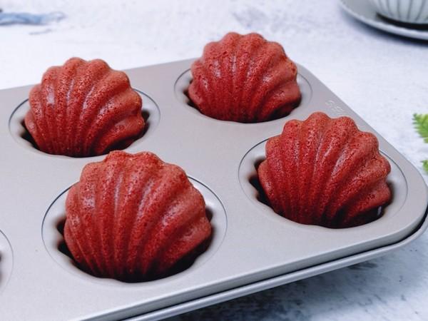 红丝绒玛德琳蛋糕的步骤