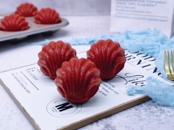红丝绒玛德琳蛋糕成品图