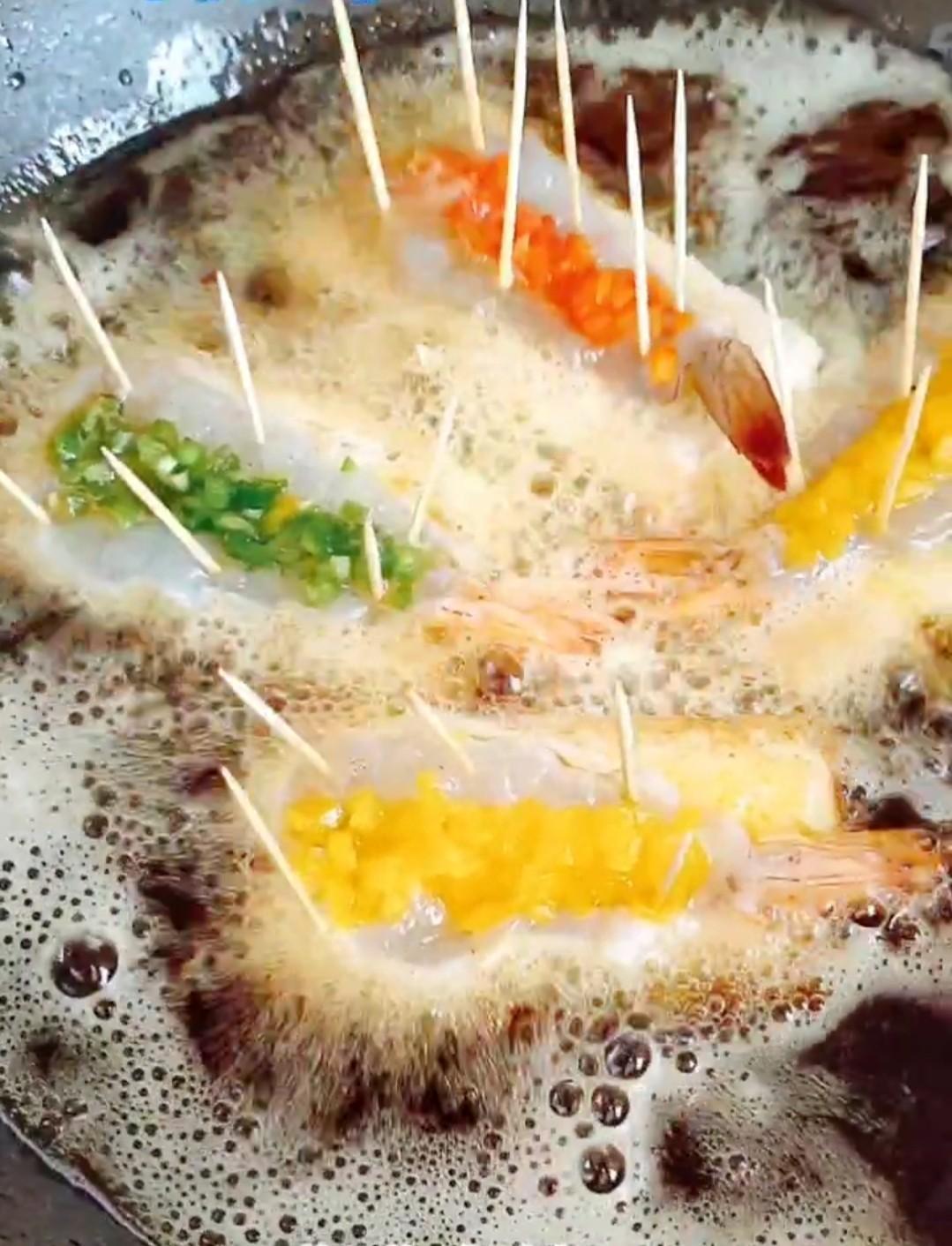 三彩大虾怎样炒