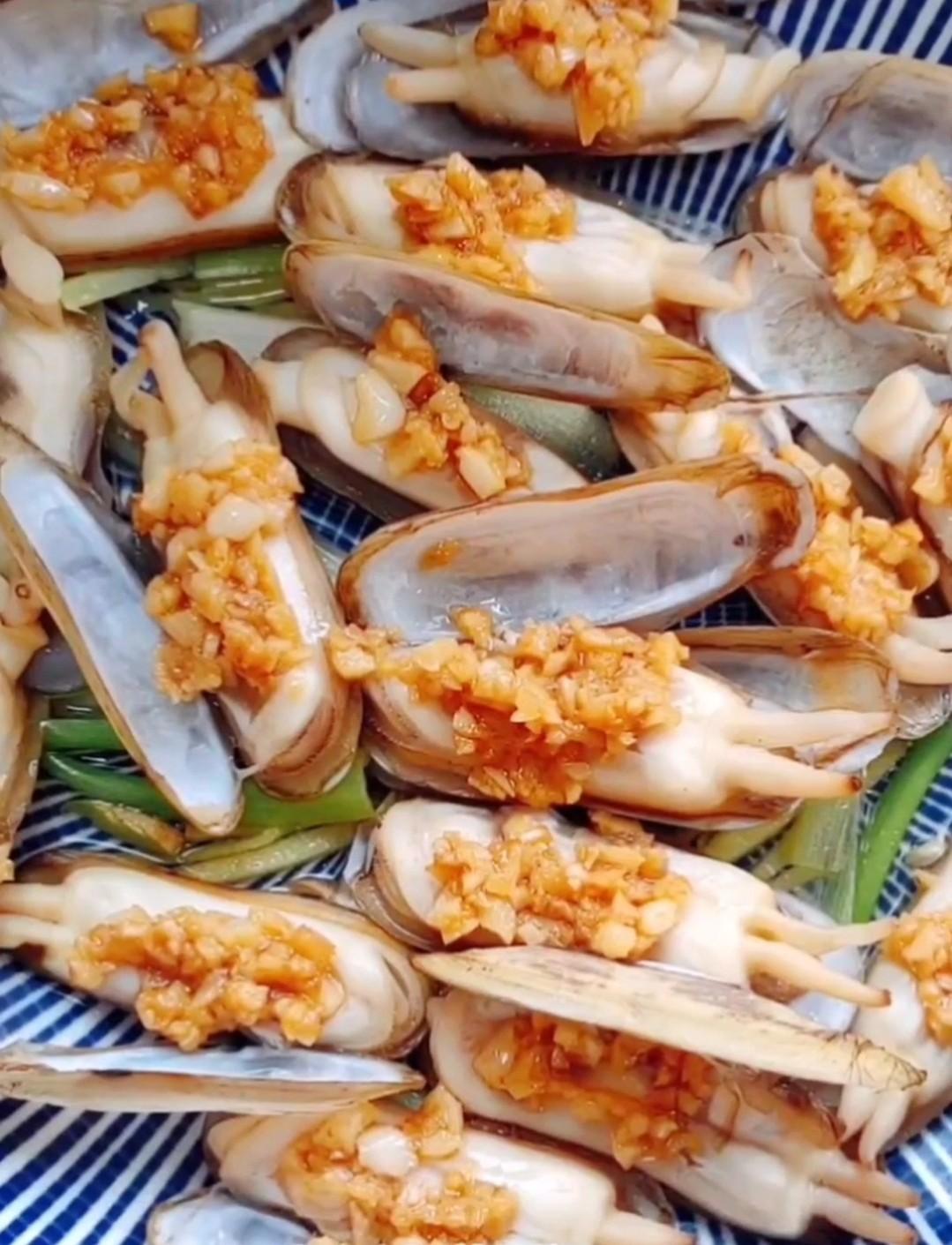 蒜蓉蛏子怎么煮