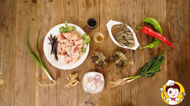 海鲜鸡煲蟹的做法大全