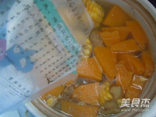 玉米南瓜排骨汤怎么炒