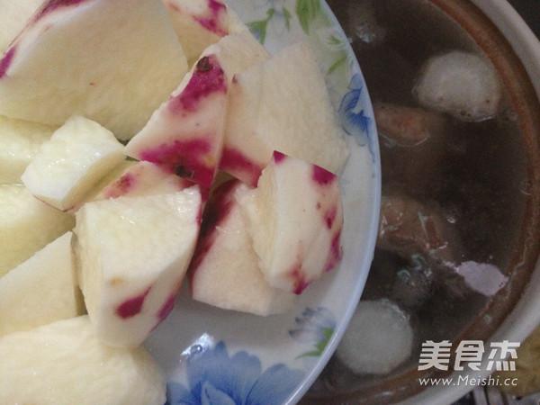 紫皮淮山萝卜汤怎么吃
