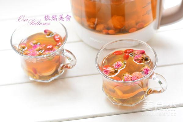 养生壶-玫瑰花草茶成品图