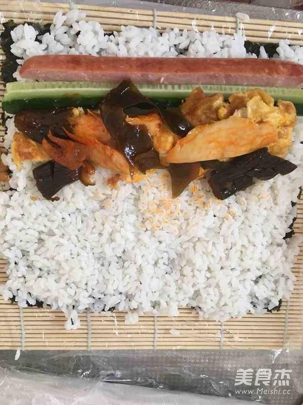 咸菜寿司的简单做法