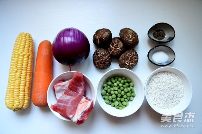 五彩时蔬糯米饭的做法图解