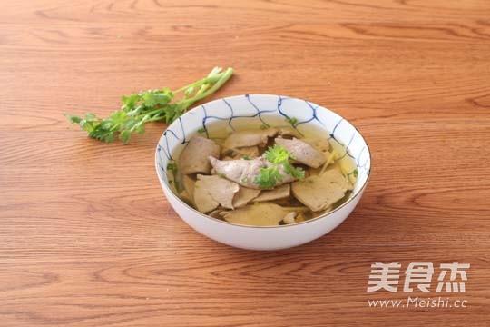 猪肝汤成品图