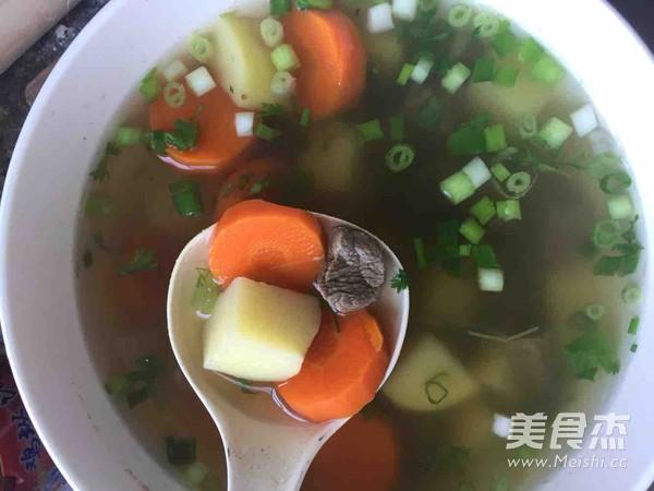 牛肉土豆胡萝卜汤怎么炒