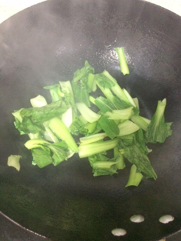 小油菜炒海参的简单做法