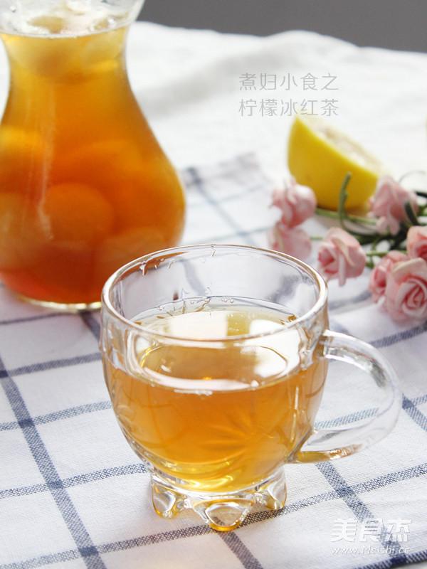 柠檬冰红茶成品图
