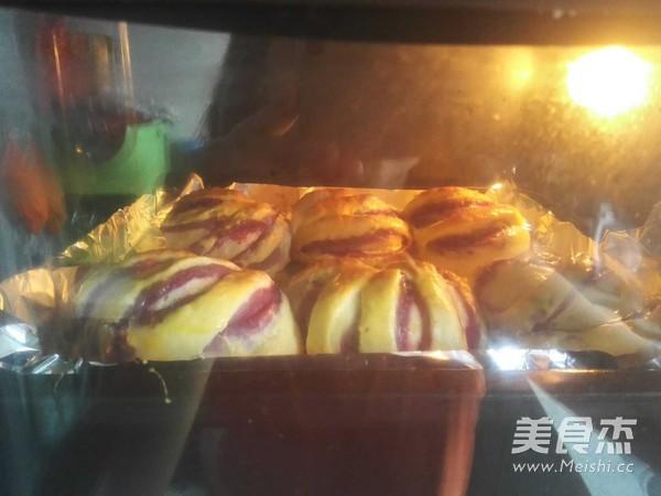 紫薯面包卷怎样煸