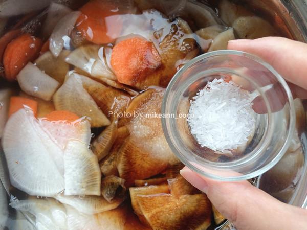 最佳开胃酱菜【酸甜萝卜片】的家常做法
