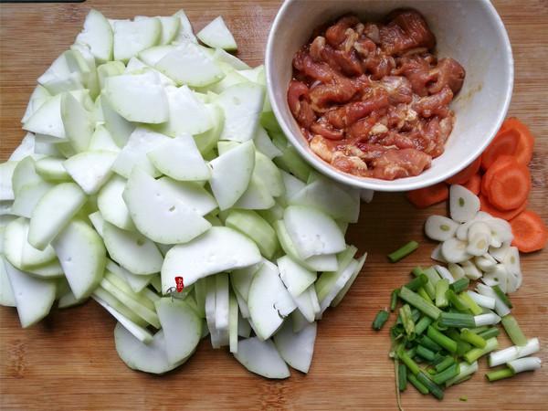 蒲瓜炒肉片的做法图解