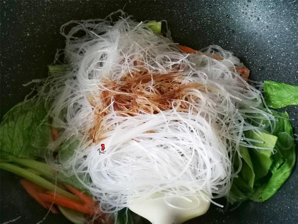 青菜炒粉丝怎么做