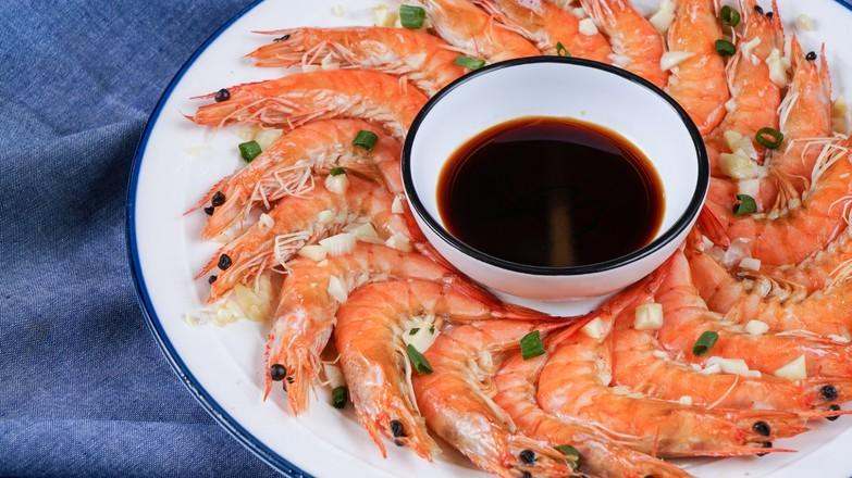 清蒸基围虾怎么吃