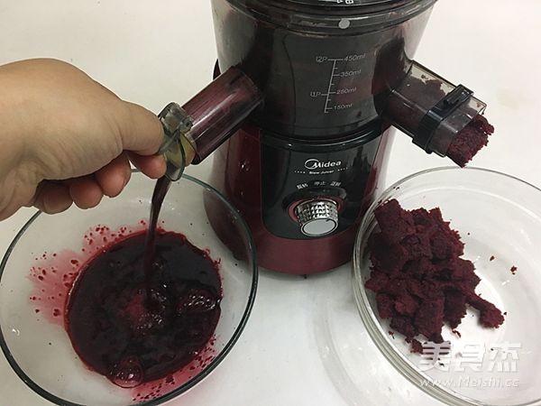 甜菜汁莲花馍的简单做法