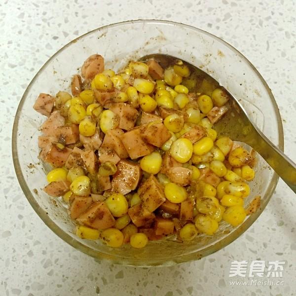 玉米火腿卷的步骤
