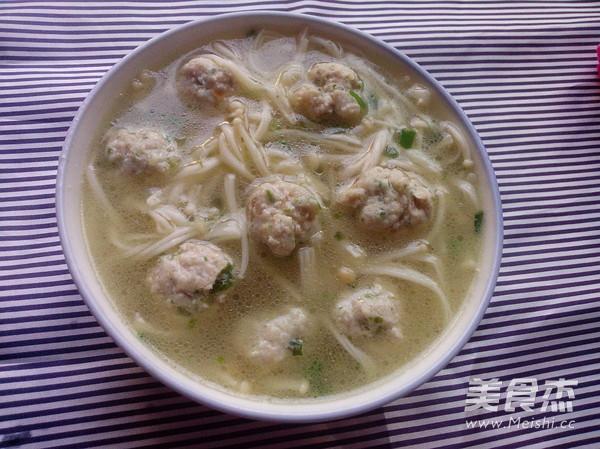 金针菇肉丸汤怎样煮