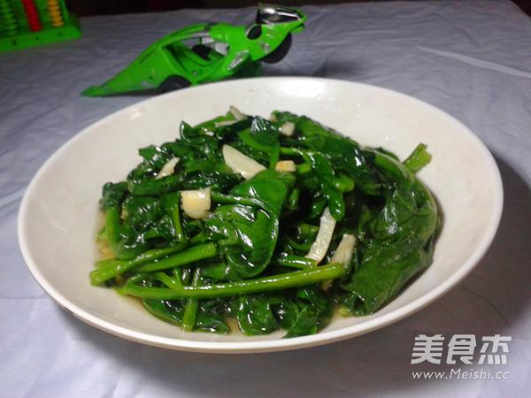 清炒木耳菜成品图