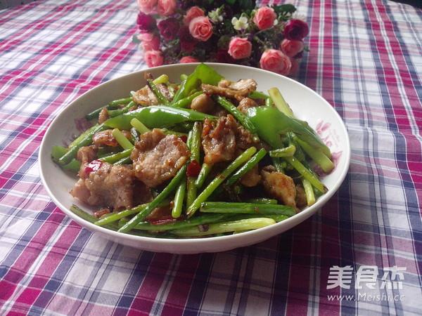 青椒蒜苔炒瘦肉怎样炒