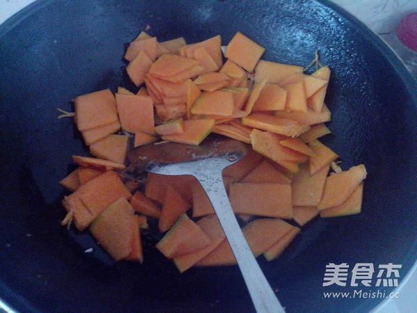 清炒老南瓜的简单做法
