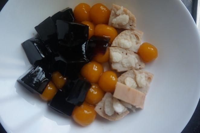 低卡甜品|桂圆藕芋凉粉怎样煮