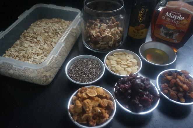 干着吃也超好吃の奇亚籽枫核格兰诺麦片的做法大全