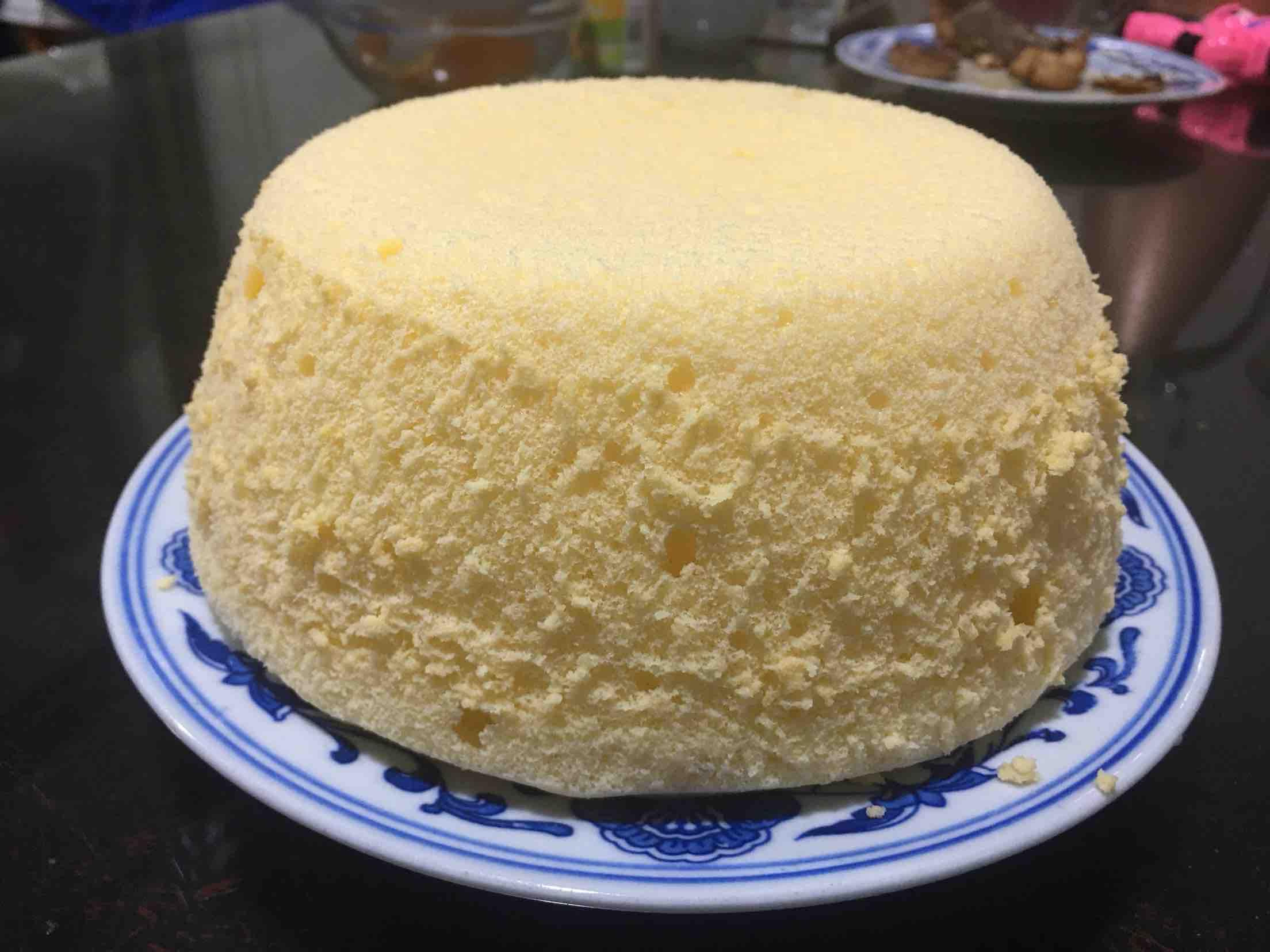 橙汁蒸蛋糕的制作