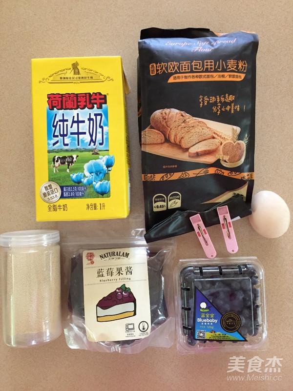 爆浆蓝莓面包的做法大全