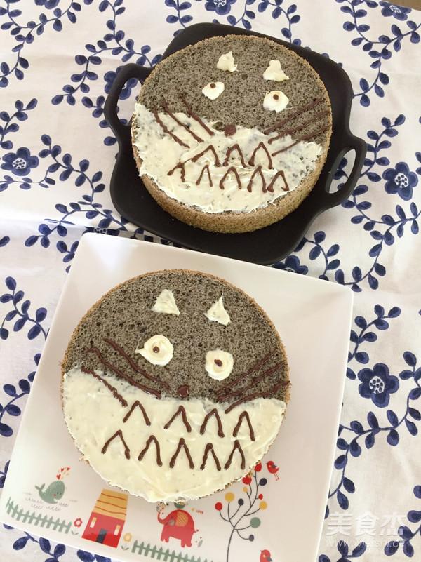 黑芝麻龙猫蛋糕怎样做