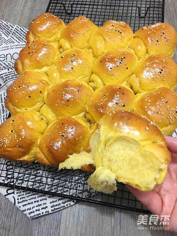 南瓜椰蓉面包卷的制作大全