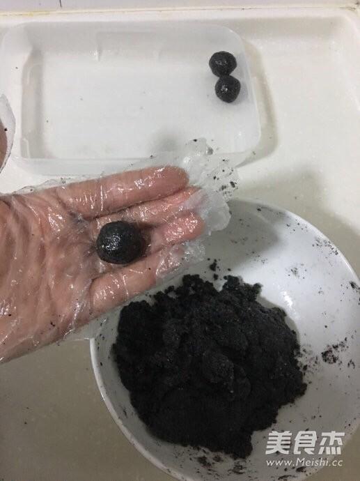 南瓜黑芝麻玫瑰汤圆的简单做法