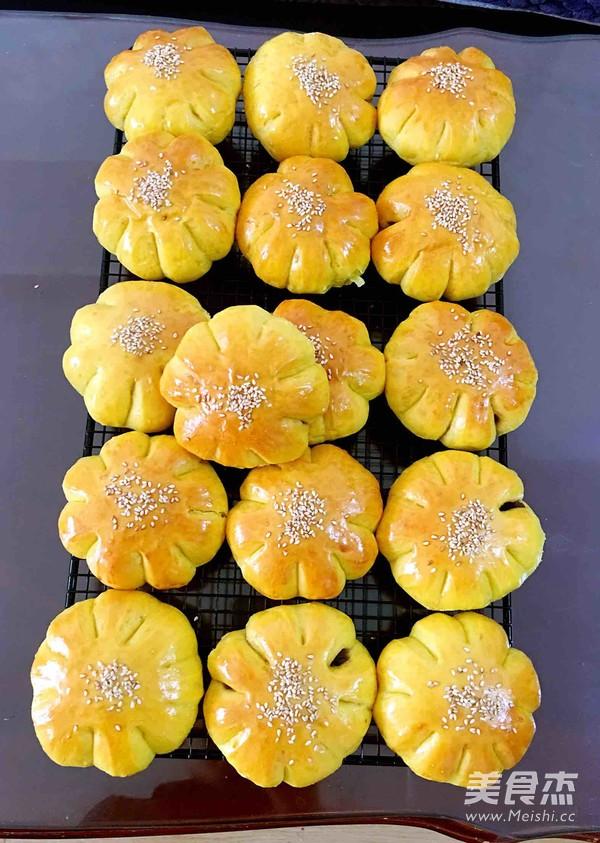 南瓜豆沙面包的制作大全