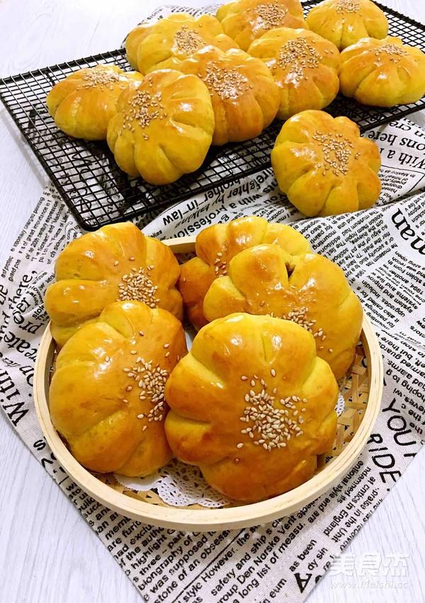 南瓜豆沙面包的做法大全
