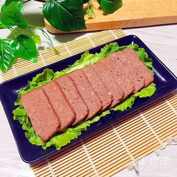 自制午餐肉成品图